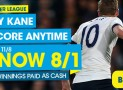 Harry Kane anytime NOW 8/1 from 11/8 – Betbright Offer