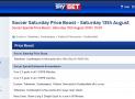 SkyBet Soccer Saturday Price Boost