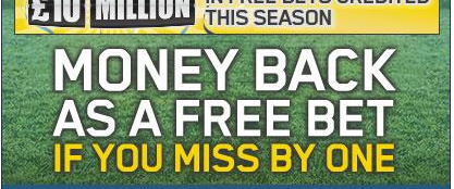 Stake Money Back at William Hill if ONE team lets you down