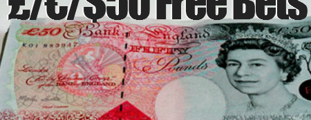 Online bookmakers' £50 free bets