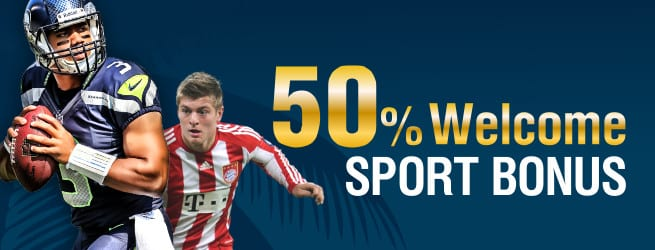 50% Bet bonus bookies