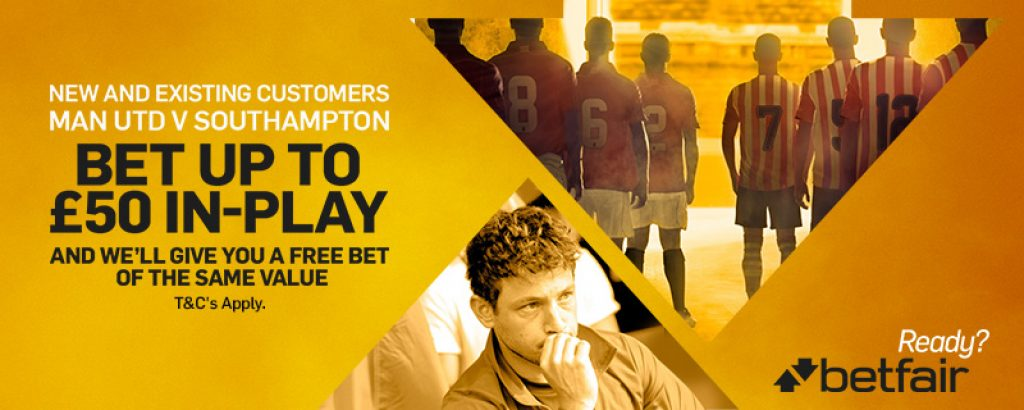 Man Utd v Southampton Free £50 Bet