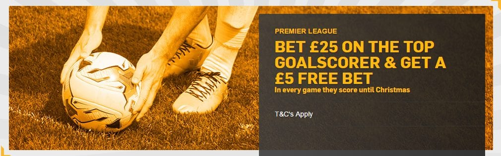 Premier League Top Goalscorer Free Bets at Betfair