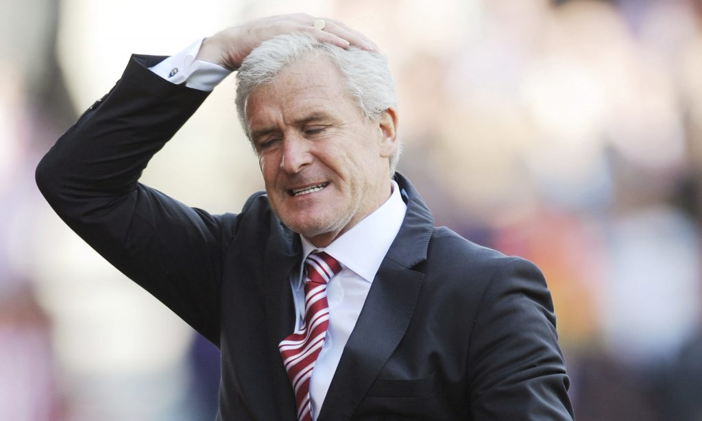Mark Hughes manager of Stoke City