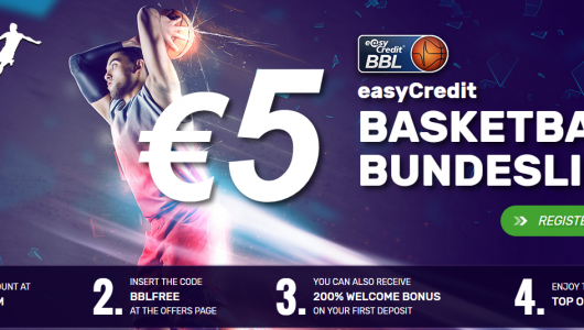 Basketball 5 Euro Free Bet at Tipbet bookmaker with No deposit