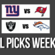 NFL Picks Week 4 – Tampa Bay, Raiders, Seahawks