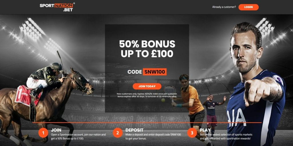 Sportnation Sign up Offer
