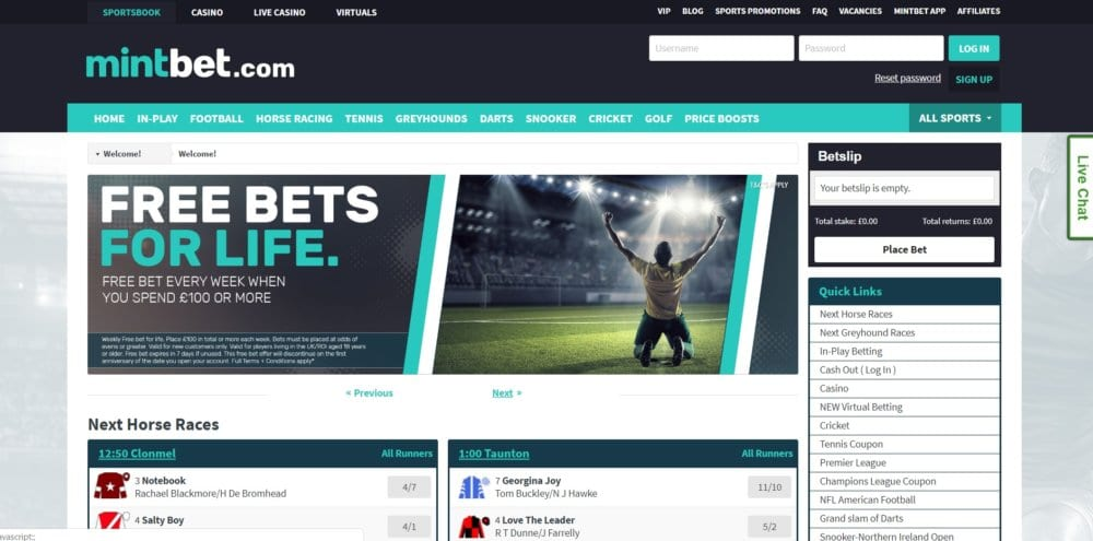 Mintbet Welcome Offer