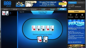 Pick 'em 8 - New Poker Game launch by 888poker