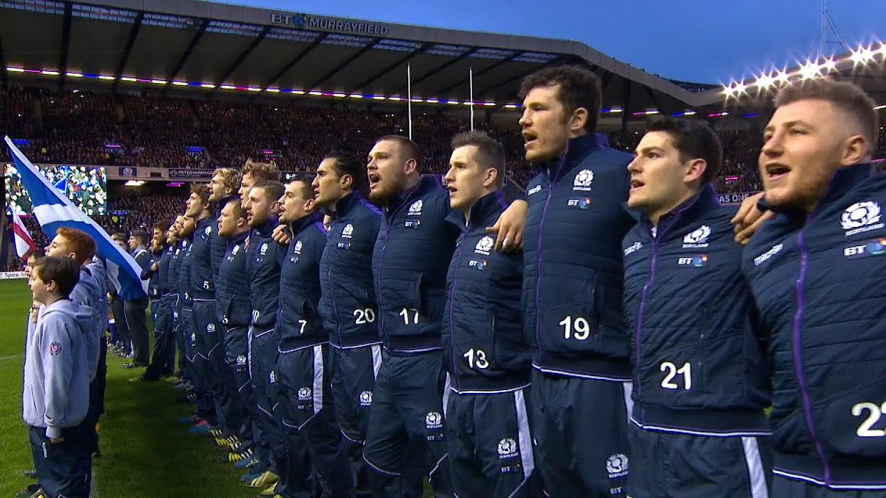Scottish National Anthem Scotland v England 6th February 2016
