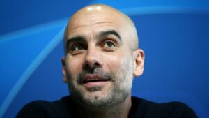 Pep Guardiola and his Man City teamhead to the top of the Premier League Table