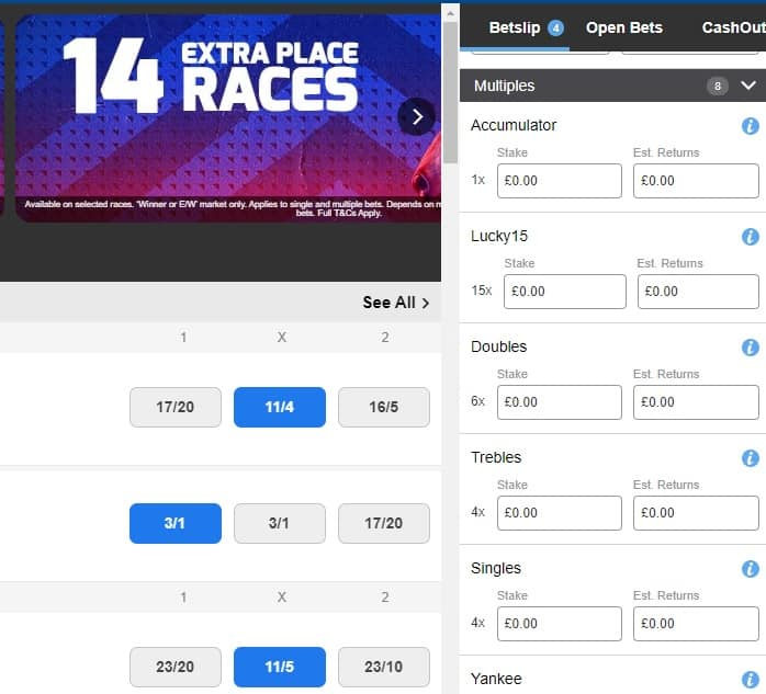 How to place a Lucky 15 bet on Betfred