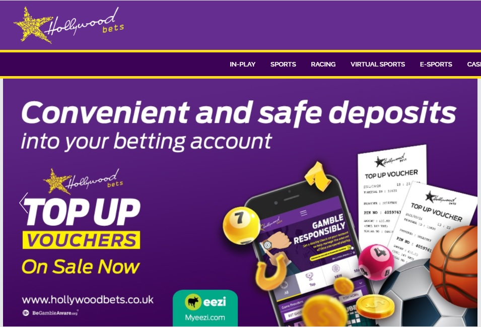 Hollywoodbets Top Up Vouchers
