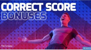 Betfred Correct Score Bonus Offer
