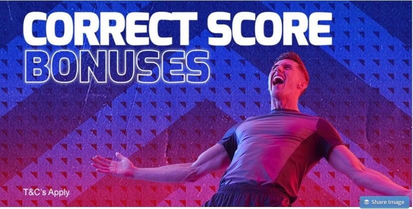 Betfred Correct Score Bonus Offer