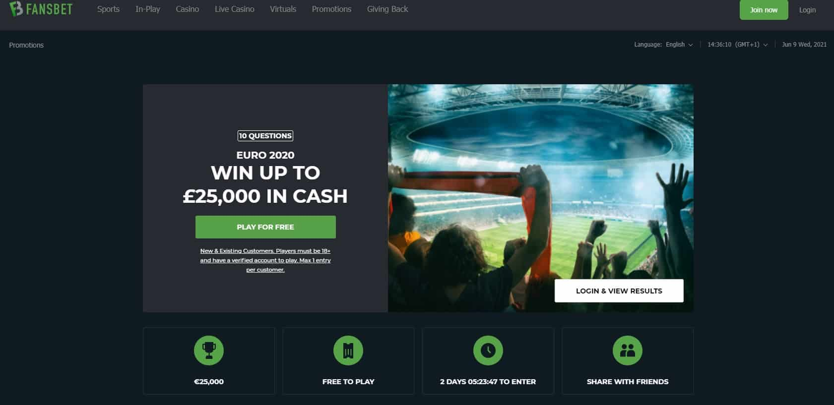 Free Bets at Fansbet